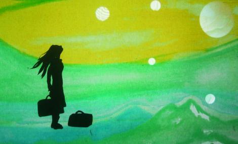 Ukjent Land presenteres på Harstad Kino under Festspillene i Nord-Norge. Fotomontasje: Inezde_Bruijn og Elien van den Hoek