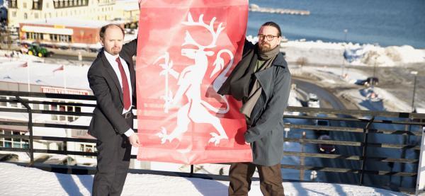 Amund Sjølie Sveen og Hallstein Guthu forbereder årets åpning av Festspillene i Nord-Norge. Foto: Bård Andreassen
