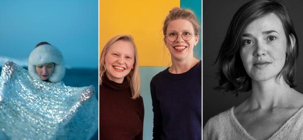 Katarina Skår Lisa, Agnes Ida Pettersen/Eline Hellerud Åsbakk og Maja Skogstad Foto: Torgrim Halvari/Collage