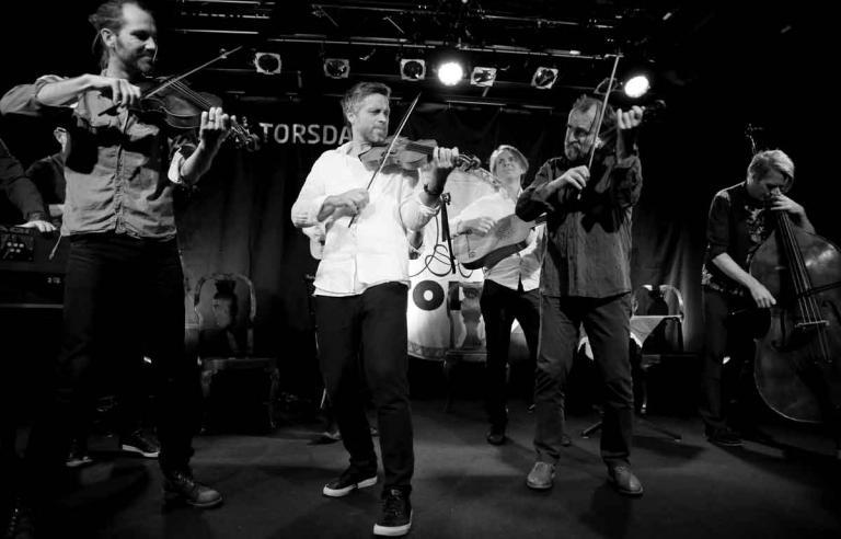 Barokksolistene spiller på Sjøbua under Festspillene i Nord-Norge 2017.