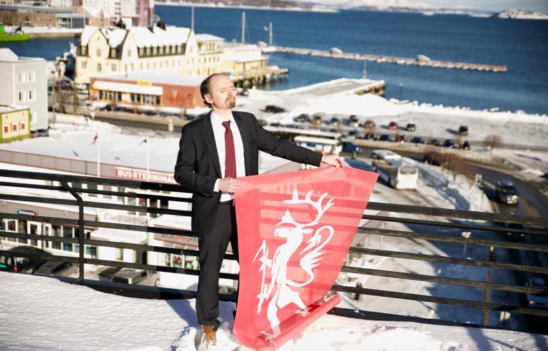 Amund Sjølie Sveens Nordting er offisiell åpningsseremoni for Festspillene i Nord-Norge 2019. Foto: Bård Andreassen