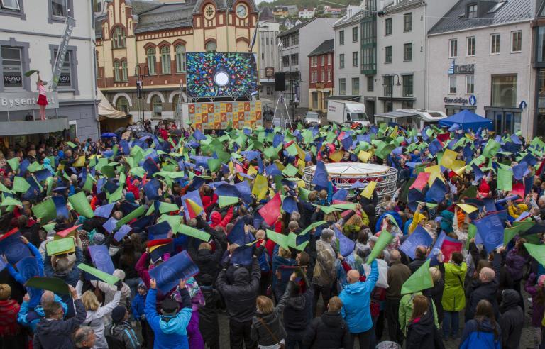 Åpningsseremoni Festspillene i Nord-Norge 2016. Foto Renate Jensen