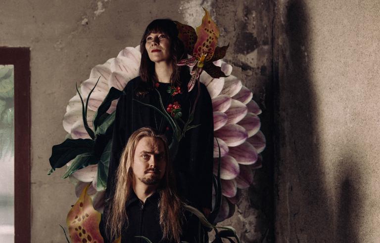 Nordnorsk Jazzensemble og Leagus presenterer Flora Eallin på Festspillene i Nord-Norge 2021. Foto: Martin Losvik