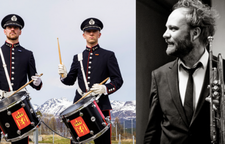 FMKNs Slagverkensemble har invitert med seg Mathias Eick på trompet under Festspillene i Nord-Norge.