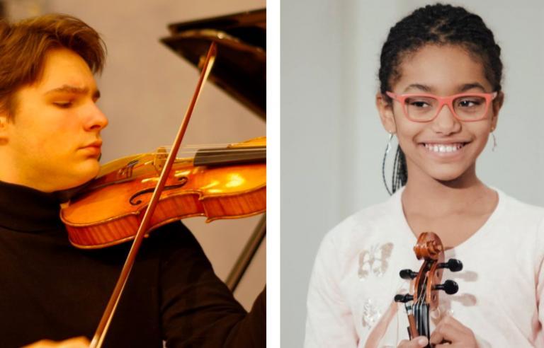 Dmitrij Osadchuk og Camilla Neema Haule spiller i kulturhusets foaje under Festspillene i Nord-Norge 2019