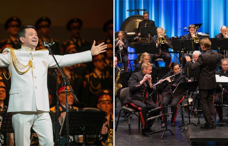 Hærens musikkorps & solister fra Den Russiske Armés kor og orkester spiller i anledning frigjøringsjubileet på Festspillene i Nord-Norge 2019.