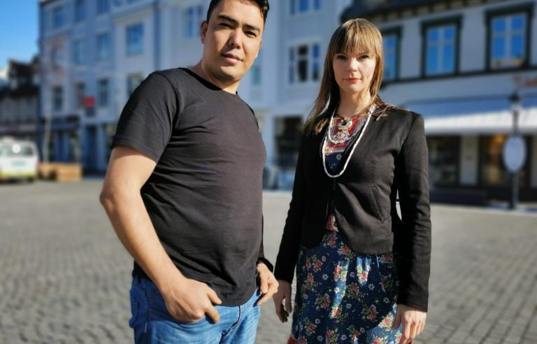 Hamid Sakhizada og Sara Marielle på Festspillene i Nord-Norge 2021. Foto: Maryam Sharifi/Festspillene i Nord-Norge