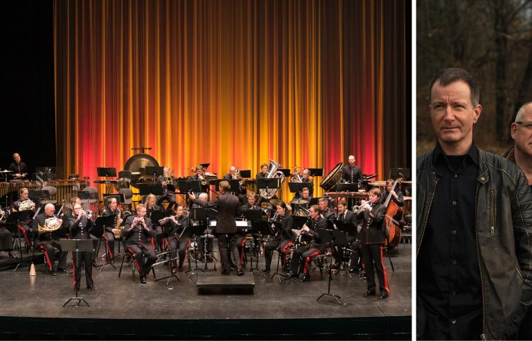 Hærens musikkorps og SISU slagverkensemble fremfører Nanawatai på Festspillene i Nord-Norge 2021. Foto: Tom Helstad/Leikny Håvik Skjærseth