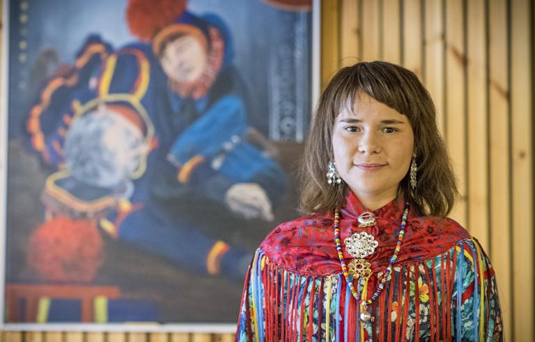 Inga-Wiktoria Påve fra Kiruna i Sverige Foto: Ørjan Bertelsen