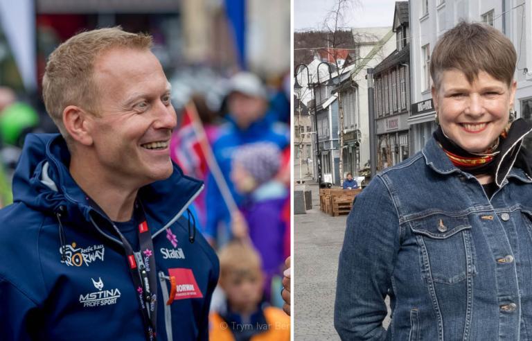 Knut-Eirik Dybdal og Ragnheidur Skuladottir snakker om hvilke programposter som er verdt å gi en sjanse. Foto Arctic Race/Harstad Tidende