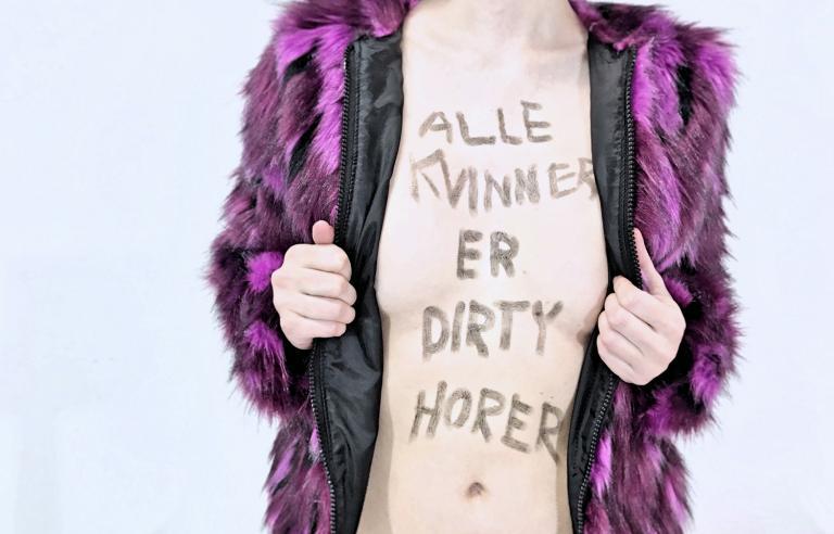 """Tine Surel Lange er ungkunstner på Festspillene i Nord-Norge 2019, og presenterer urpremieren av sitt verk """"Alle kvinner er dirty horer"""". Foto: Tine Surel Lange"""