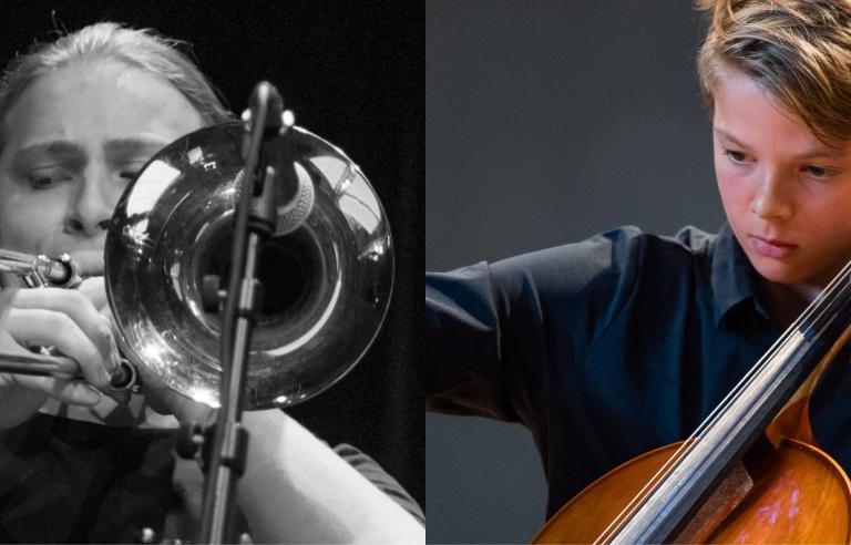 Sigurd Skogdal og Teo Lien er Ungdommens Musikkmestre Troms og spiller på Galleri Nord-Norge under Festspillene i Nord-Norge 2017.