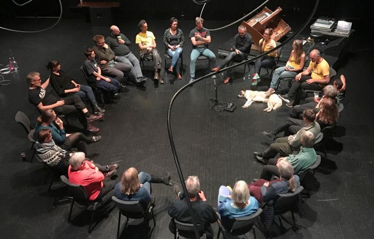 Utopisk samtale om framtidshåp under Festspillene i Nord-Norge. Foto: Amund Sjølie Sveen